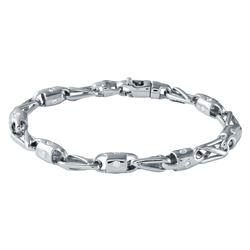 1.5 CTW Diamond Bracelet 14K White Gold - REF-273M8F