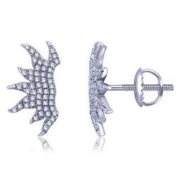 0.17 CTW Diamond Earrings 14K White Gold - REF-15W9H