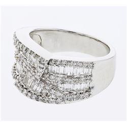 1.58 CTW Diamond Ring 18K White Gold - REF-171R4K