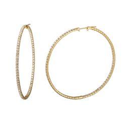 4.25 CTW Diamond Earrings 14K Yellow Gold - REF-211H2M