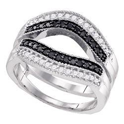 0.55 CTW Black Color Diamond Ring 10KT White Gold - REF-44Y9X