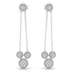 0.24 CTW Diamond Earrings 14K White Gold - REF-31F3N