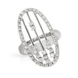 0.67 CTW Diamond Ring 18K White Gold - REF-107R9K