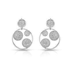 1.09 CTW Diamond Earrings 14K White Gold - REF-69R4K