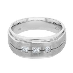 0.33 CTW Princess Diamond Ring 14K White Gold - REF-126H3M