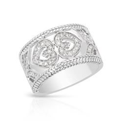 0.38 CTW Diamond Ring 14K White Gold - REF-68Y2X