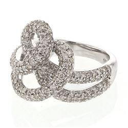 2.75 CTW Diamond Ring 14K White Gold - REF-149R6K