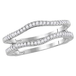 0.25 CTW Diamond Ring 14KT White Gold - REF-41H9M