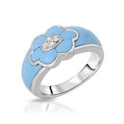 0.06 CTW Diamond Ring 14K White Gold - REF-43N3Y