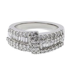 1.26 CTW Diamond Ring 14K White Gold - REF-137Y2X