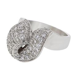 1.34 CTW Diamond Ring 18K White Gold - REF-187R2K
