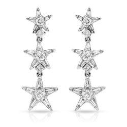 1.36 CTW Diamond Earrings 14K White Gold - REF-126R6K