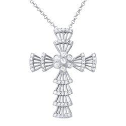 0.31 CTW Diamond Necklace 14K White Gold - REF-32Y3X
