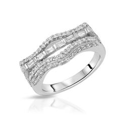 0.83 CTW Diamond & Diamond Ring 18K White Gold - REF-123Y2X