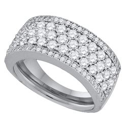 1.65 CTW Diamond Ring 14KT White Gold - REF-149N9F