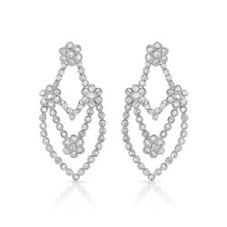 2.09 CTW Diamond Earrings 14K White Gold - REF-156X2R