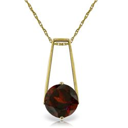 Genuine 1.45 ctw Garnet Necklace Jewelry 14KT Yellow Gold - REF-23T8A