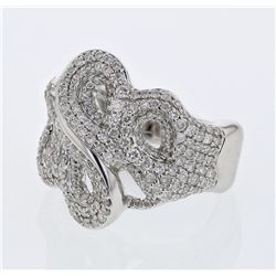 1.37 CTW Diamond Ring 14K White Gold - REF-135W3H