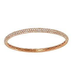 6.16 CTW Diamond Bangle 18K Rose Gold - REF-556F4N