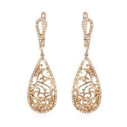0.69 CTW Diamond Earrings 14K Rose Gold - REF-51K4W
