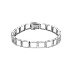 2.92 CTW Diamond Bracelet 18K White Gold - REF-324R7K