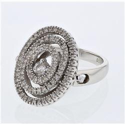 0.81 CTW Diamond Ring 14K White Gold - REF-98R2K