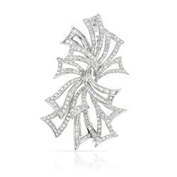 5.22 CTW Diamond Brooch 18K White Gold - REF-526M7F