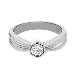 0.35 CTW Diamond Ring 14K White Gold - REF-56X3R
