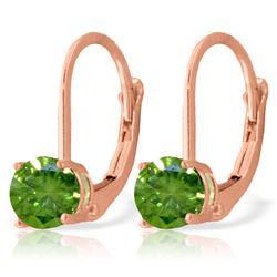 Genuine 1.0 ctw Diamond Anniversary Earrings Jewelry 14KT Rose Gold - REF-204H6X