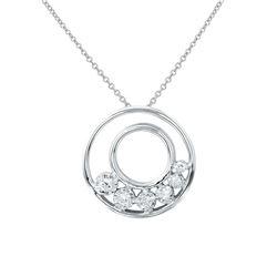 0.15 CTW Diamond Necklace 14K White Gold - REF-24N5Y