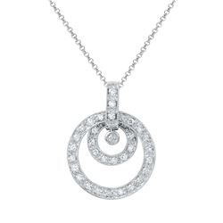 0.45 CTW Diamond Necklace 14K White Gold - REF-40N5Y