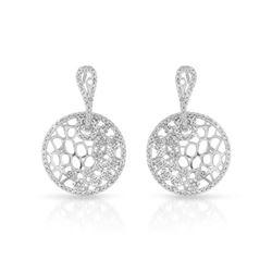 0.94 CTW Diamond Earrings 14K White Gold - REF-65K9W