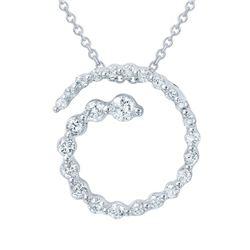0.40 CTW Diamond Necklace 14K White Gold - REF-35H5M