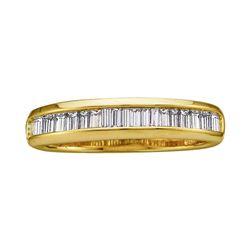 0.50 CTW Diamond Wedding Anniversary Ring 14KT Yellow Gold - REF-28H4M
