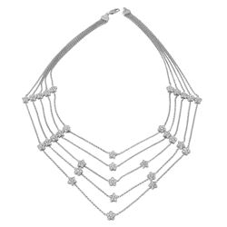 2.5 CTW Diamond Necklace 14K White Gold - REF-230M7F