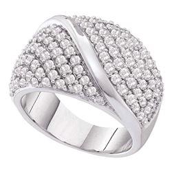 2 CTW Diamond Fashion Ring 14KT White Gold - REF-194H9M