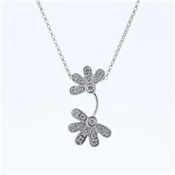 0.23 CTW Diamond Necklace 14K White Gold - REF-33Y9X