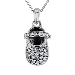 0.76 CTW Diamond Necklace 14K White Gold - REF-76N3Y