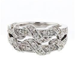 0.35 CTW Diamond Ring 14K White Gold - REF-58K9W