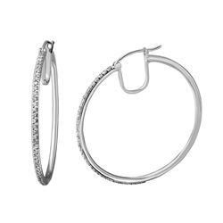 1.04 CTW Diamond Earrings 14K White Gold - REF-99H4M