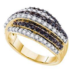1.11 CTW Black Color Diamond Ring 14KT Yellow Gold - REF-95W9K