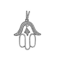 0.45 CTW Diamond Necklace 14K White Gold - REF-37F3N