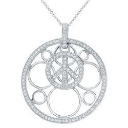 0.96 CTW Diamond Necklace 14K White Gold - REF-60M4F