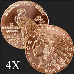 5 oz Incuse Indian .999 Fine Copper Round
