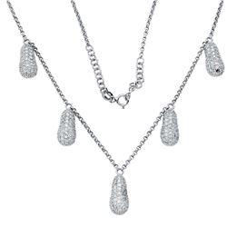 2.17 CTW Diamond Necklace 18K White Gold - REF-219Y7X