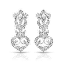 0.55 CTW Diamond Earrings 18K White Gold - REF-69H9M