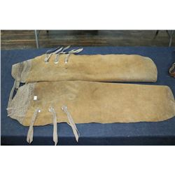 Pair of Leather Chaps (Full Leg)