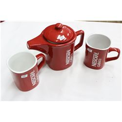 Nestlé Set of 'Nescafe Coffee Pot & 2 Cups'