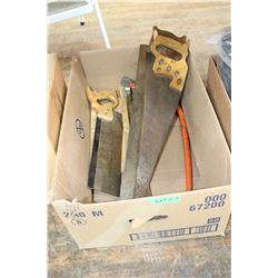 Box of Saws - Hand, Mitre, Bow & Mitre Box