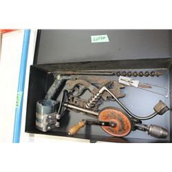 Metal Box & Antique Metal Tools